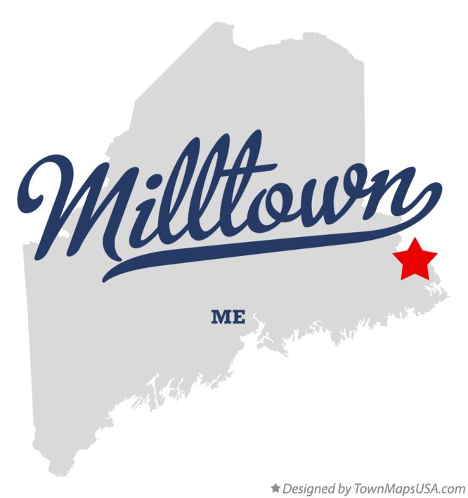 Map of Milltown Maine ME