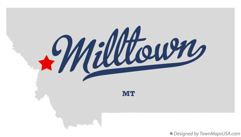 Map of Milltown Montana MT