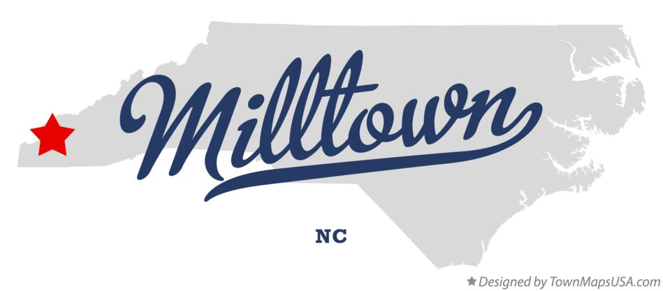 Map of Milltown North Carolina NC