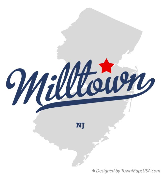 Map of Milltown New Jersey NJ
