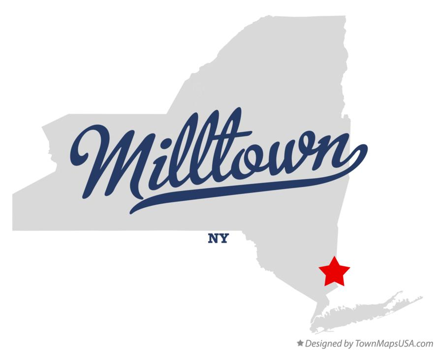 Map of Milltown New York NY