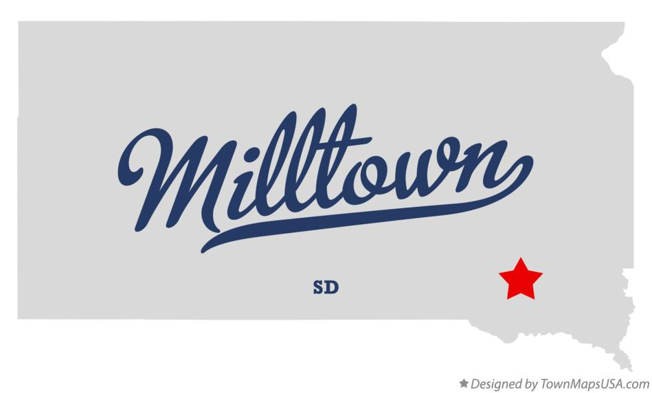 Map of Milltown South Dakota SD