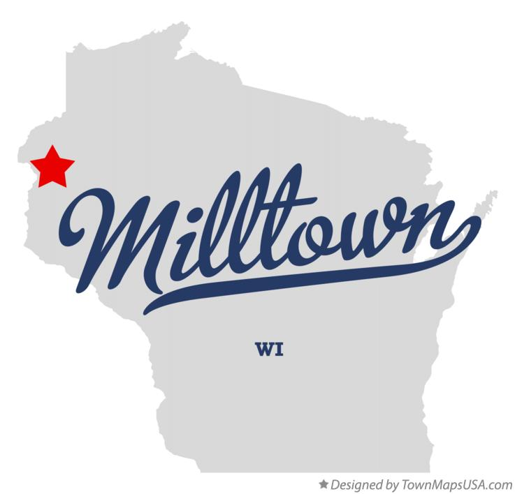 Map of Milltown Wisconsin WI