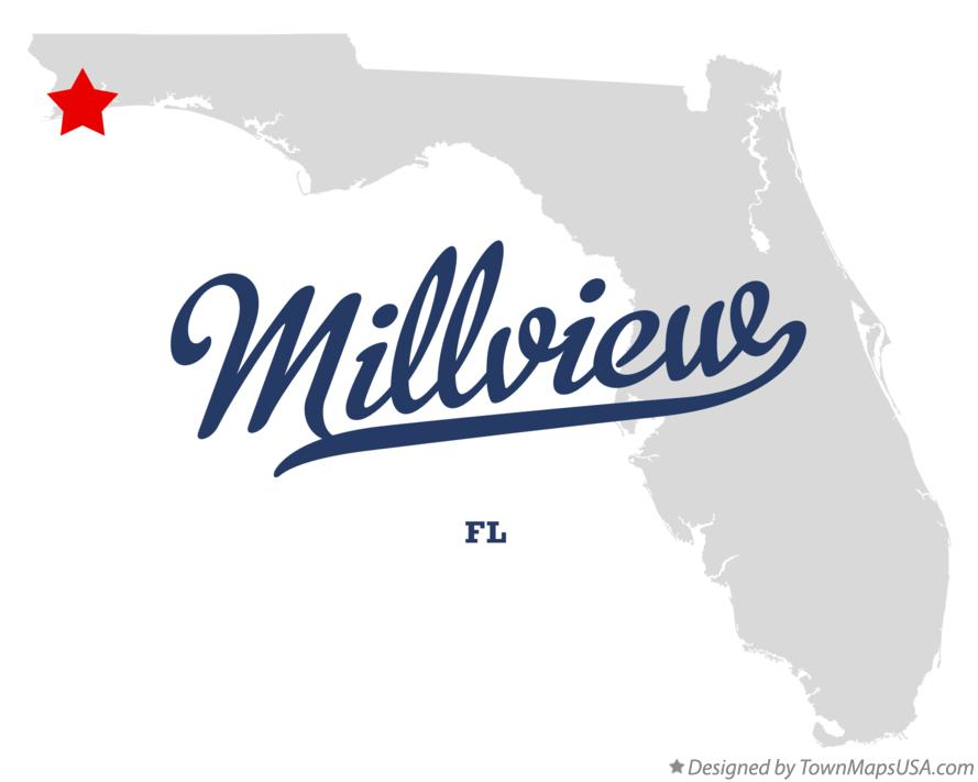 Map of Millview Florida FL