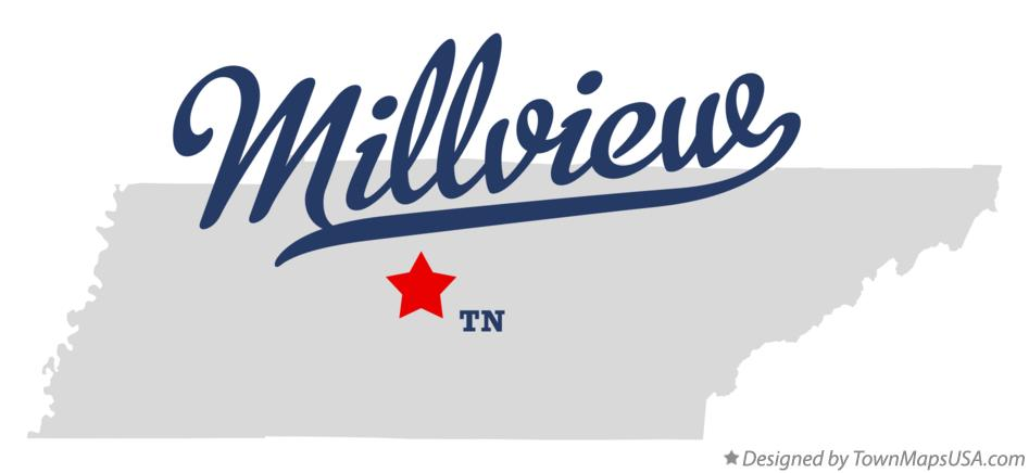 Map of Millview Tennessee TN