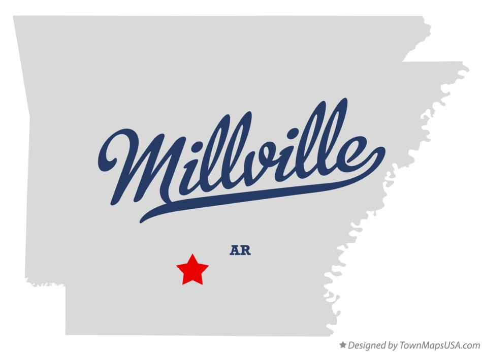 Map of Millville Arkansas AR