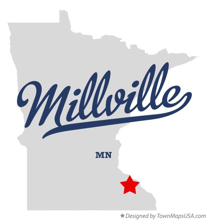 Map of Millville Minnesota MN