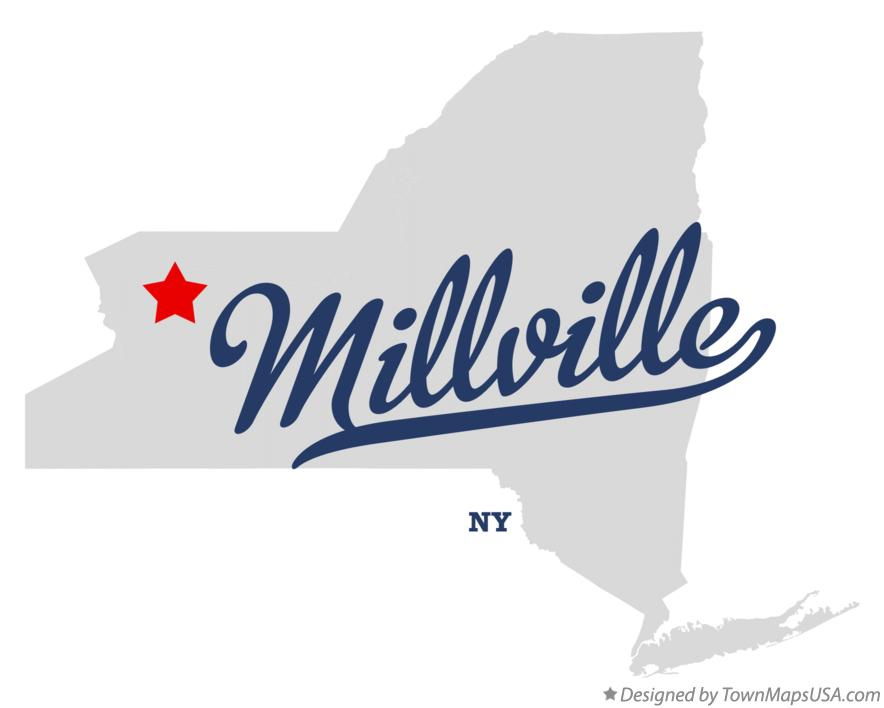 Map of Millville New York NY