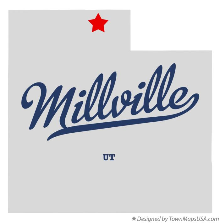 Map of Millville Utah UT