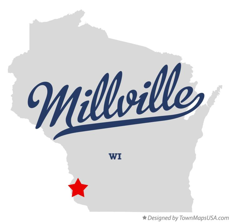 Map of Millville Wisconsin WI