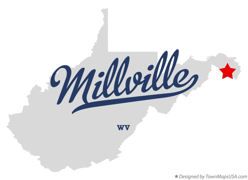 Map of Millville West Virginia WV