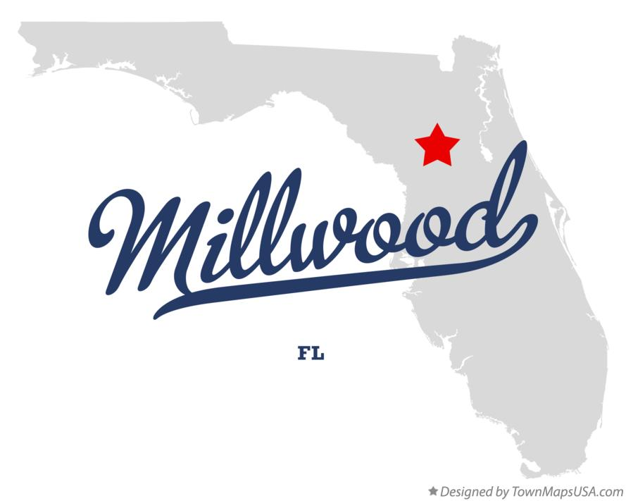 Map of Millwood Florida FL