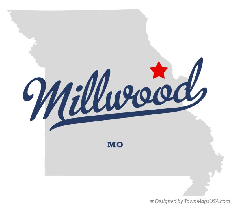 Map of Millwood Missouri MO