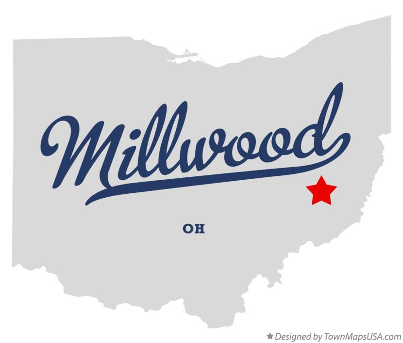 Map of Millwood Ohio OH