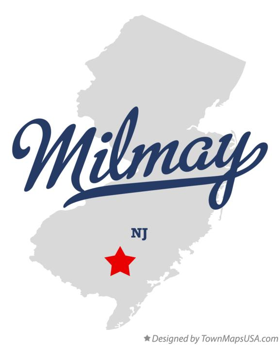 Map of Milmay New Jersey NJ