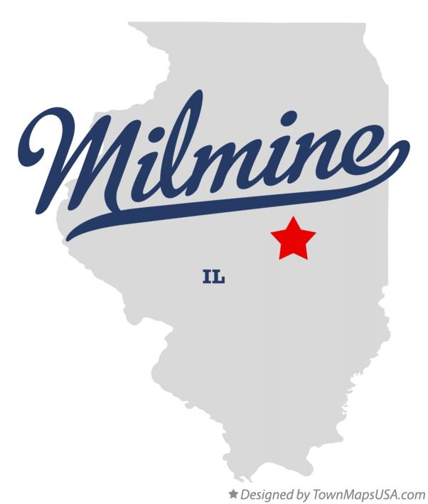 Map of Milmine Illinois IL