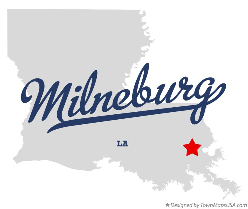 Map of Milneburg Louisiana LA
