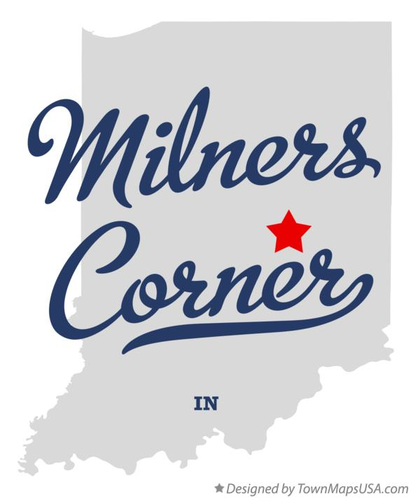Map of Milners Corner Indiana IN