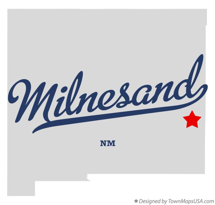 Map of Milnesand New Mexico NM
