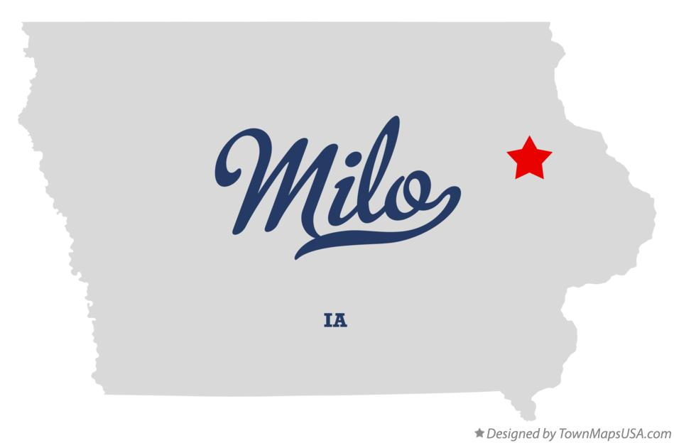 Map of Milo Iowa IA