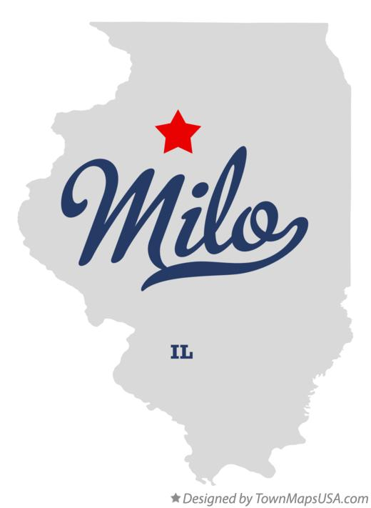 Map of Milo Illinois IL