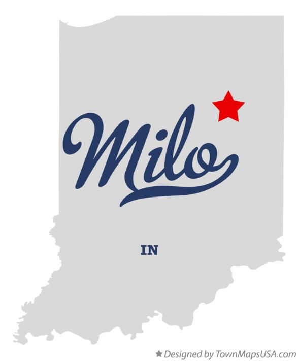 Map of Milo Indiana IN