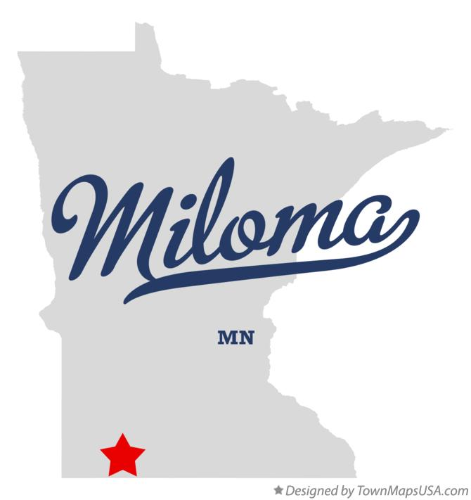 Map of Miloma Minnesota MN