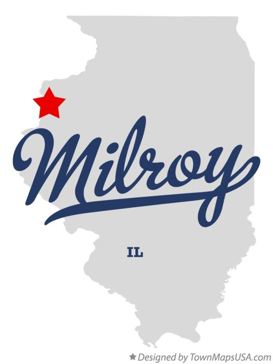 Map of Milroy Illinois IL