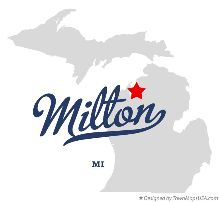 Map of Milton Michigan MI