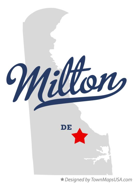 Map of Milton Delaware DE