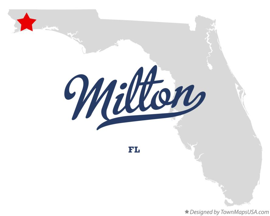 Map of Milton Florida FL