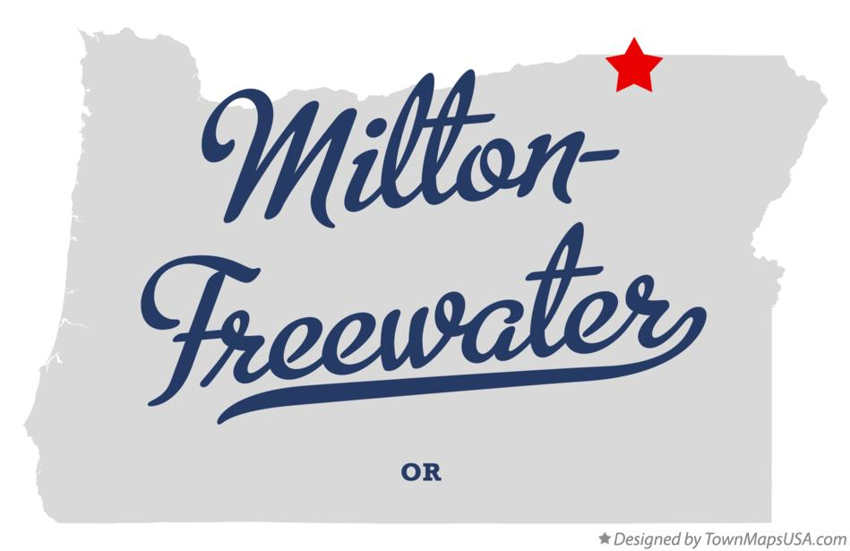 Map of Milton-Freewater Oregon OR