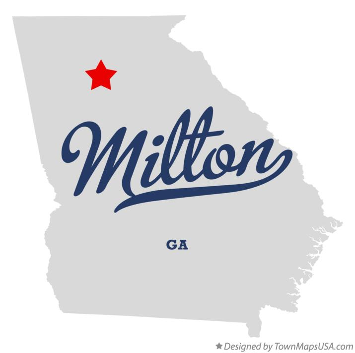 Map of Milton Georgia GA