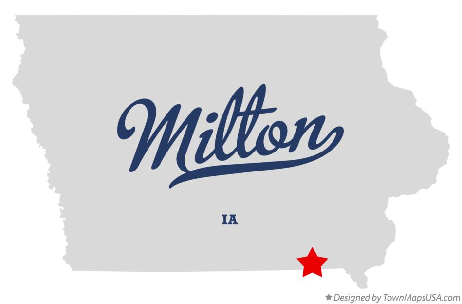 Map of Milton Iowa IA