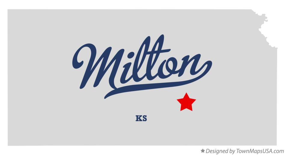 Map of Milton Kansas KS