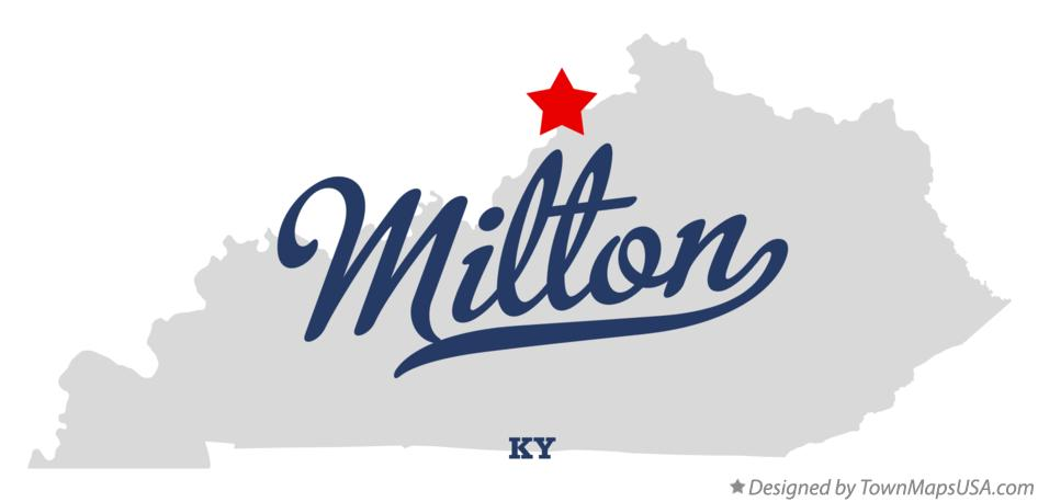 Map of Milton Kentucky KY
