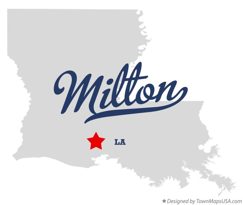 Map of Milton Louisiana LA