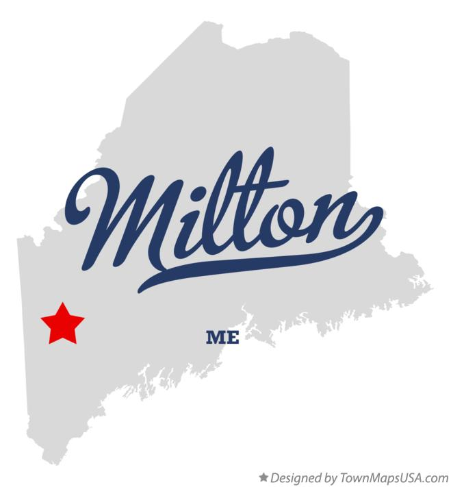 Map of Milton Maine ME