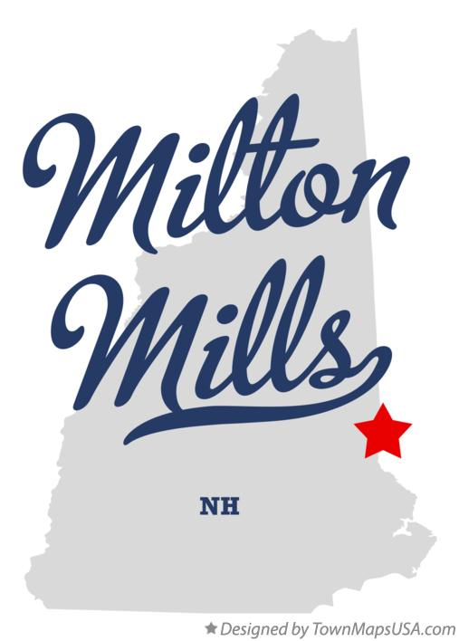 Map of Milton Mills New Hampshire NH