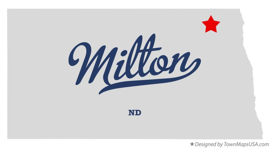 Map of Milton North Dakota ND