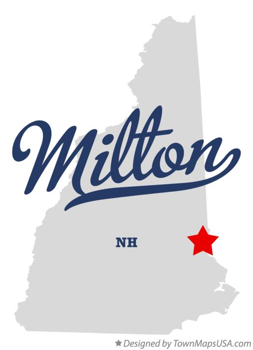 Map of Milton New Hampshire NH