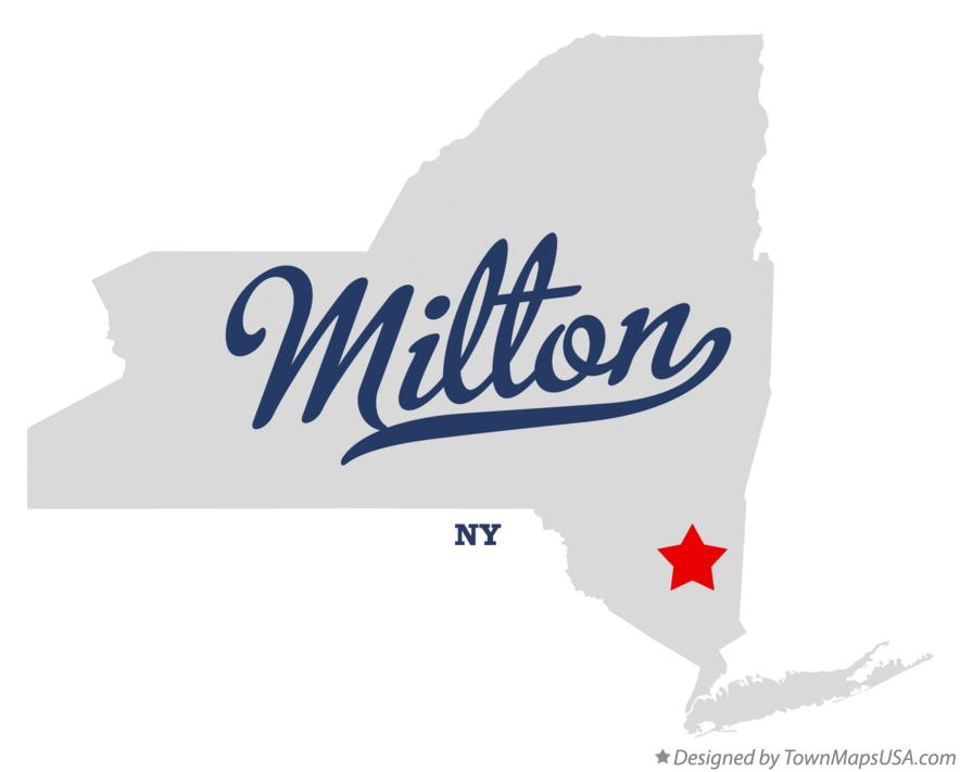 Map of Milton New York NY