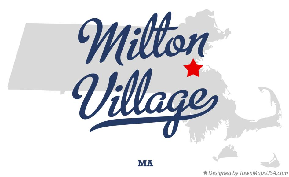 Map of Milton Village Massachusetts MA