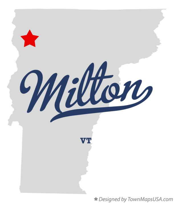 Map of Milton Vermont VT