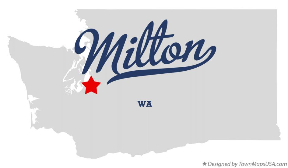 Map of Milton Washington WA