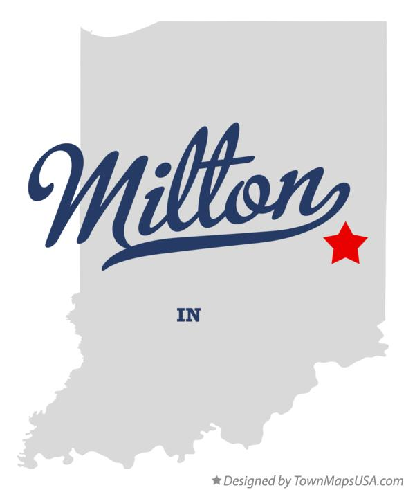 Map of Milton Indiana IN