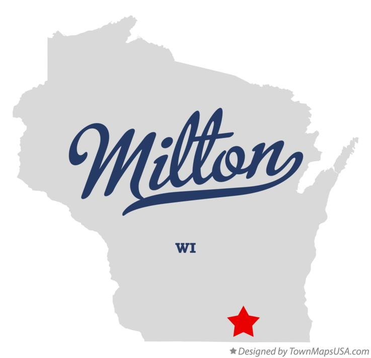 Map of Milton Wisconsin WI