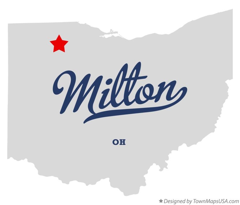 Map of Milton Ohio OH