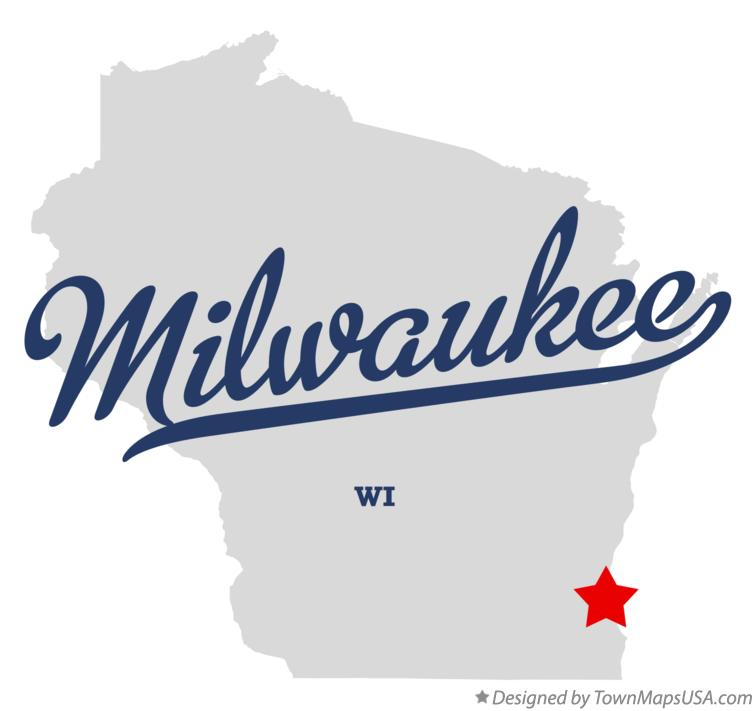 map of milwaukee wi wisconsin