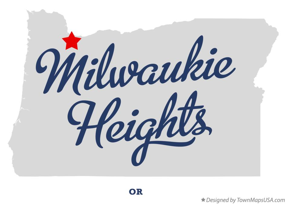 Map of Milwaukie Heights Oregon OR